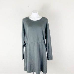 Athleta draw string waist long sleeve dress